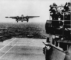 B25B Launches from  the USS Hornet